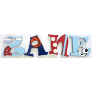 Wooden Alphabet Letters for walls Handpainted and personalised for kids  - Football Theme