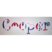Wooden Alphabet Letters for walls Handpainted and personalised for kids - Red White and Blue