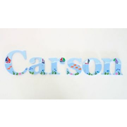 Wooden Alphabet Letters for walls Handpainted and personalised for kids  - Sailboat Theme