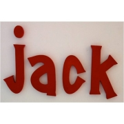 Wooden Alphabet Letters for walls Handpainted and personalised for kids  - Solid Red